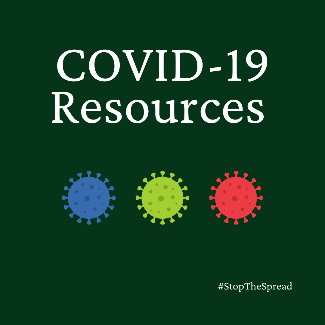 COVID-19 Resources with images of virus #StopTheSpread