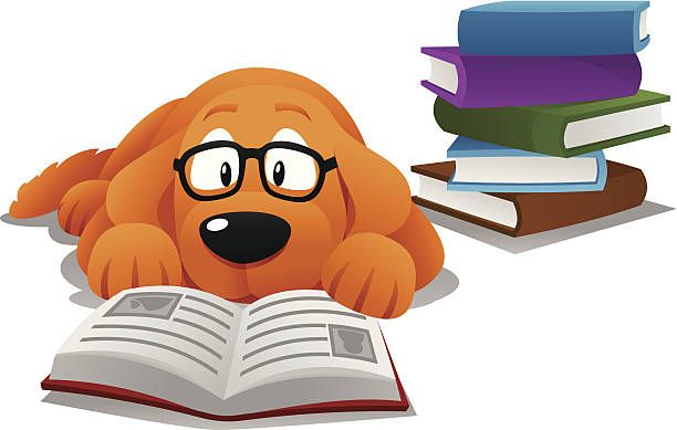 reading paws clipart