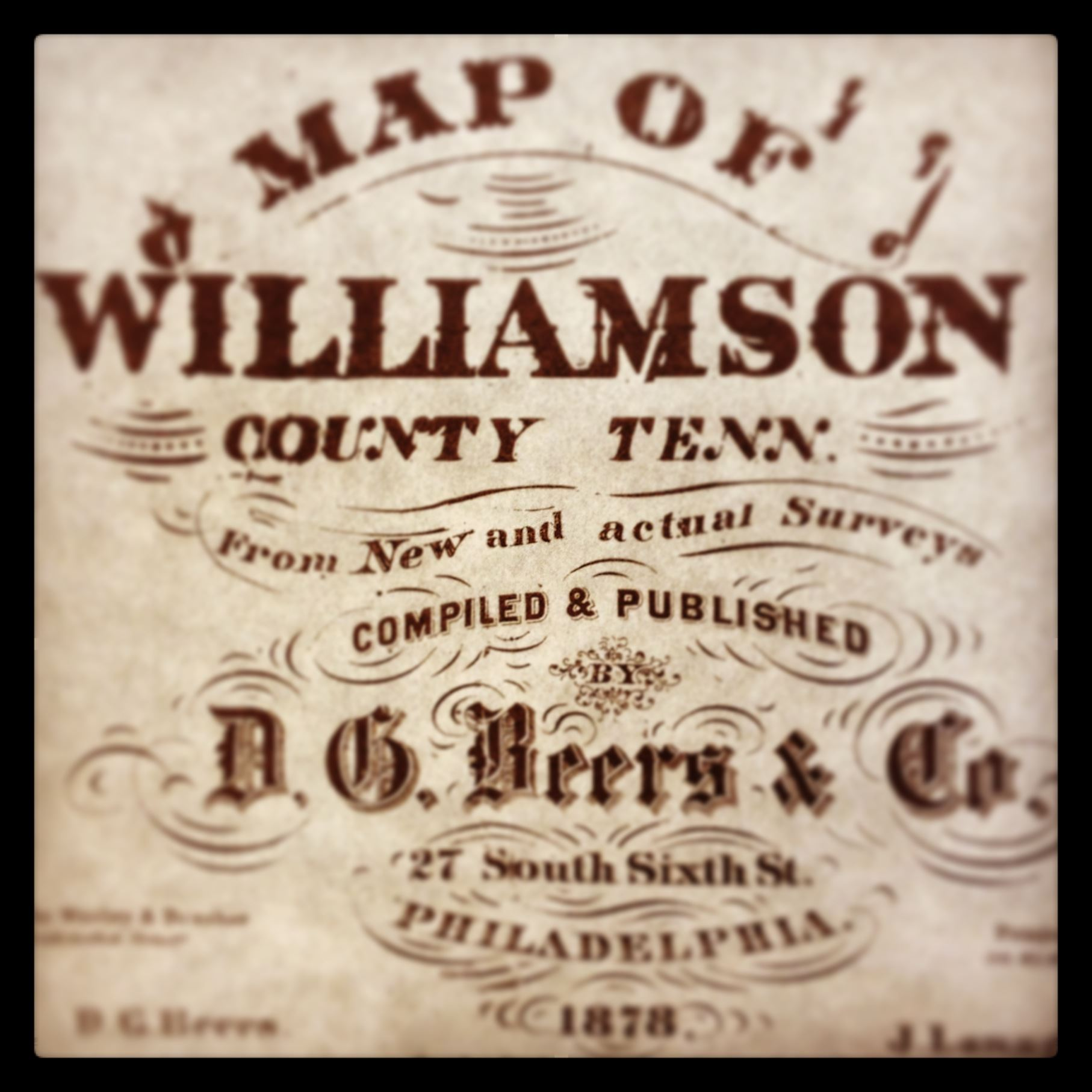 Williamson County Map-1878 Publisher Imprint