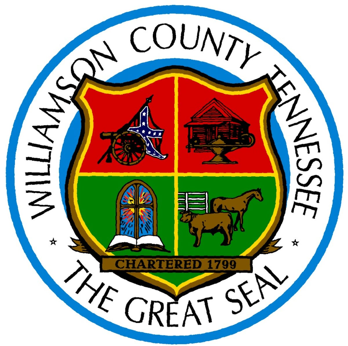 Williamson County Great Seal with crest